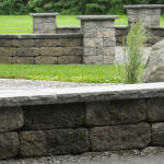 free standing wall and pillars