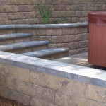 free standing wall and stairs